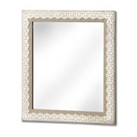 Linen & Lace Trimmed Mirror